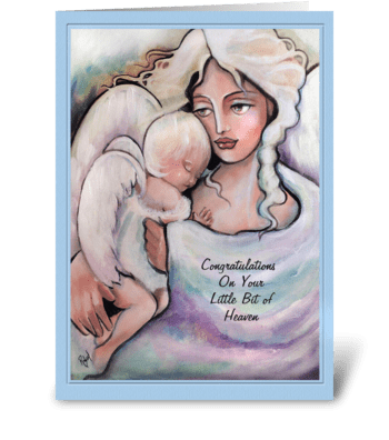 Congratulations, New Baby, Angels greeting card