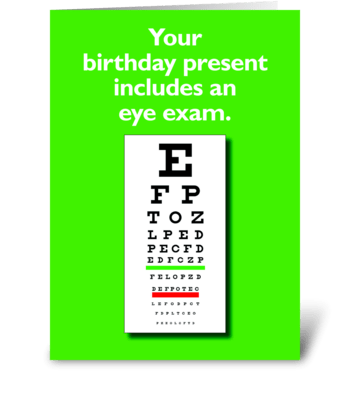 Eye Exam greeting card