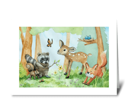 Forest Critters greeting card