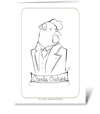 The Author Animalia Collection: Charles greeting card