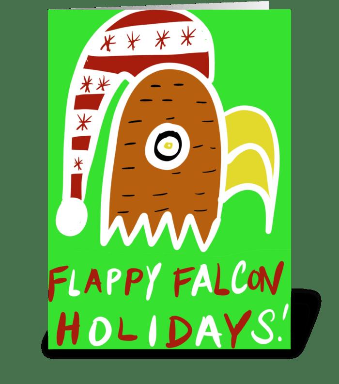 Flappy Falcon Holidays greeting card