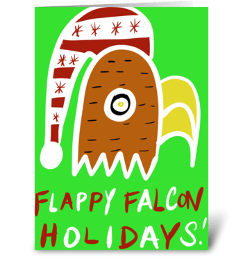 Flappy Falcon Holidays greeting card