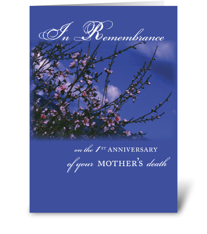 Mother, Remembrance 1st Anniversary greeting card