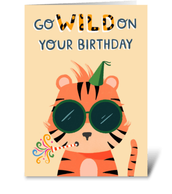 Go Wild, Tiger! greeting card
