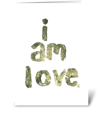 Gold Leaf - i am love. greeting card