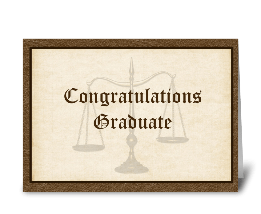 Law Graduate Congratulations greeting card