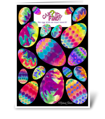 Easter Egg Card Game greeting card