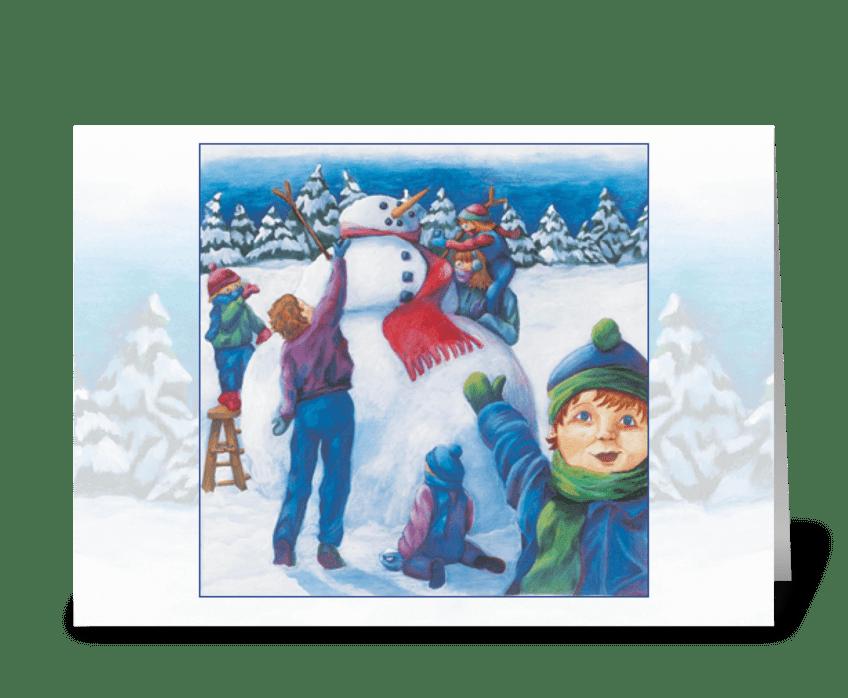 The Spirit of Christmas greeting card