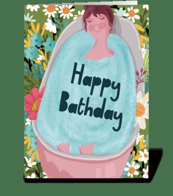 Happy Birthday Self love greeting card