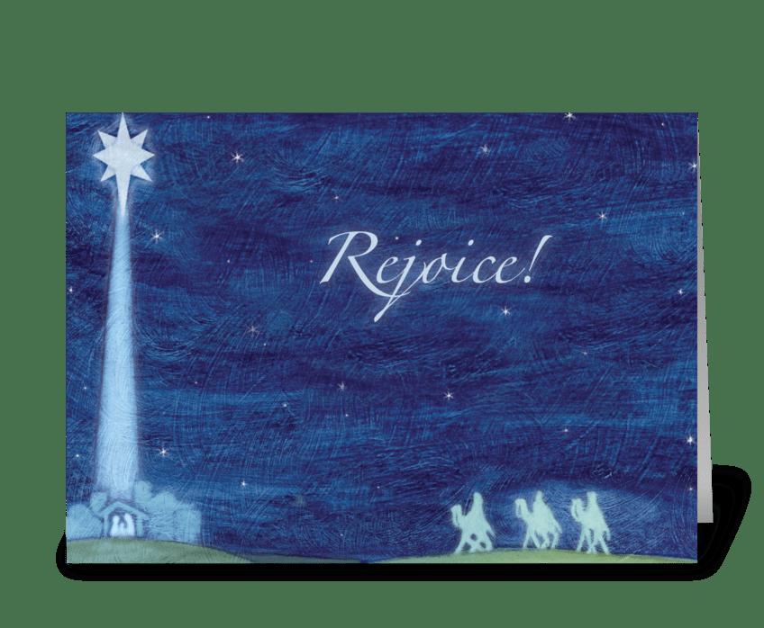 Rejoice greeting card