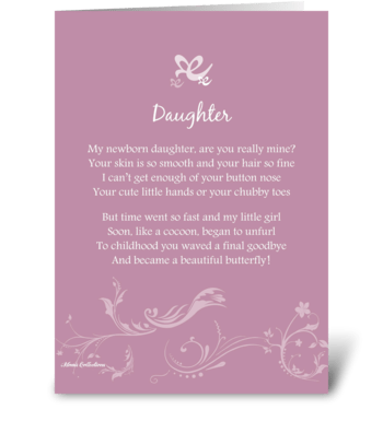 Poetry Daughter greeting card