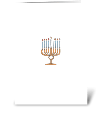 eight candles greeting card