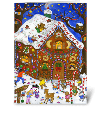 Gingerbread Fun greeting card