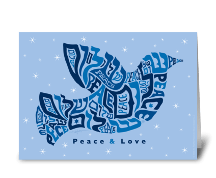 Dove of Peace and love greeting card