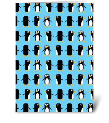 Viva Las Penguins! greeting card