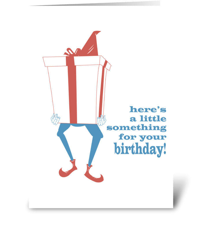 Giant Gnome Present greeting card