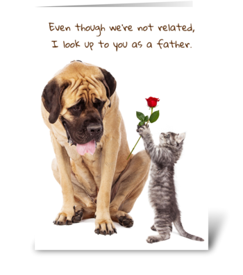 Father Figure Greeting Card greeting card