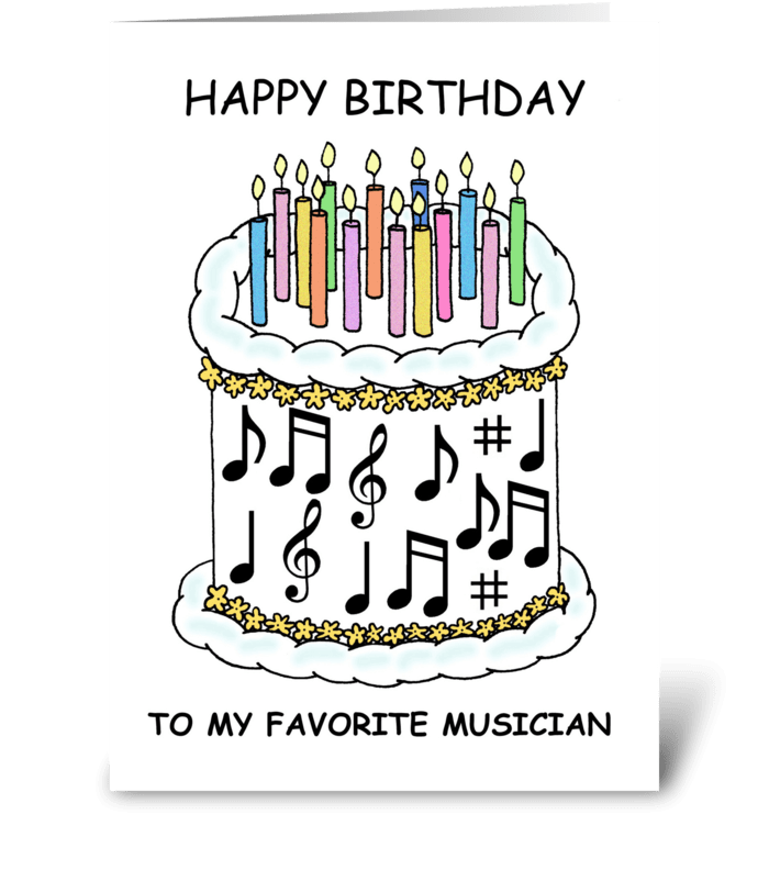 Musician Happy Birthday Greeting Card