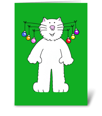 Happy Christmas for Cat Lover. greeting card