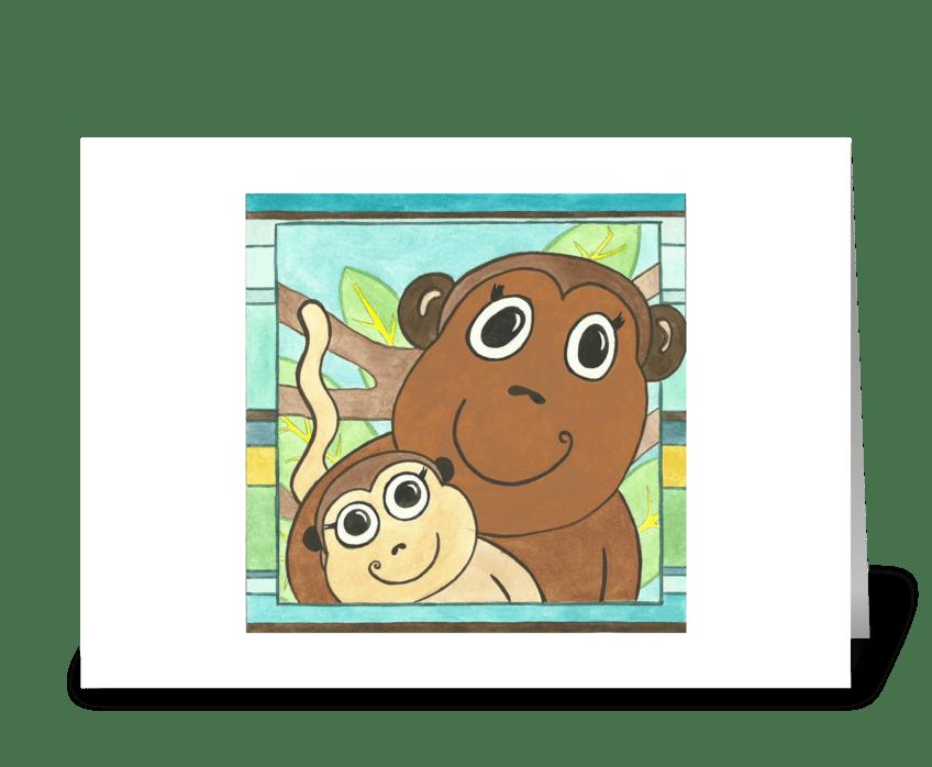Max's Monkeys greeting card