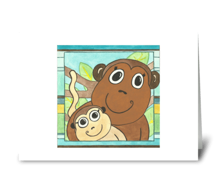 Max's Monkeys greeting card