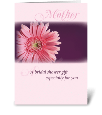 Mother, Bridal Shower Pink Daisy greeting card