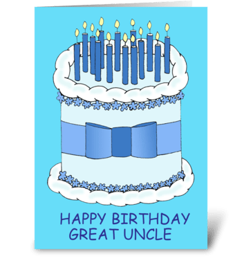 Great Uncle Happy Birthday greeting card