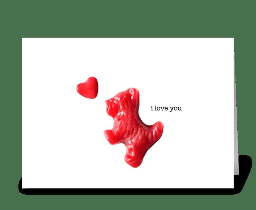 Scottie in Love greeting card