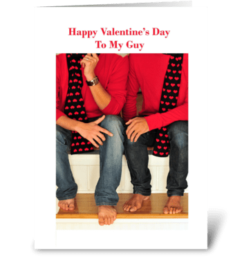 Happy Valentine's Day to My Guy greeting card