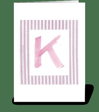 K - Baby Girl greeting card