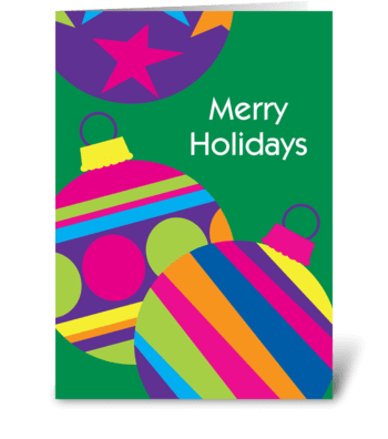 Colorful Ornaments greeting card