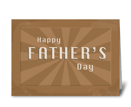 Happy Father's Day Rays greeting card