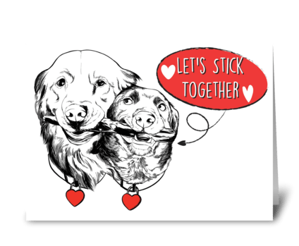 Cute Dog Valentines Card greeting card