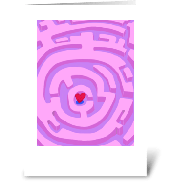 Maze Heart greeting card