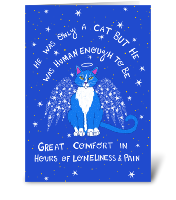 Cat Sympathy Card greeting card