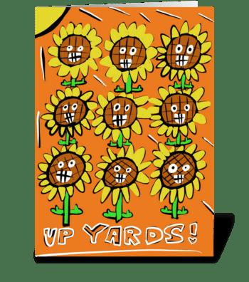 Up Yards greeting card