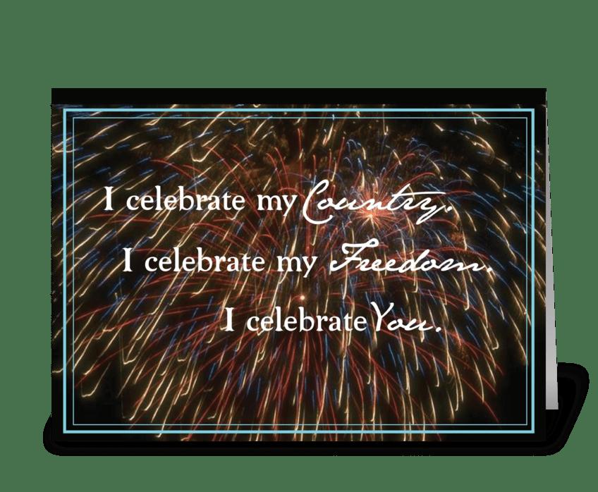 3312 Veteran's Day Celebrate greeting card