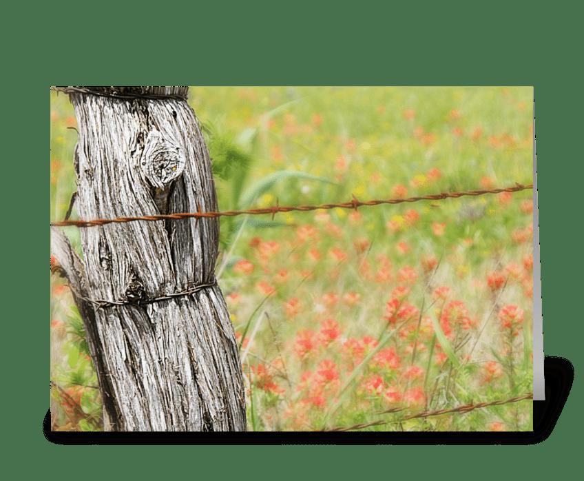 Texas Fences greeting card