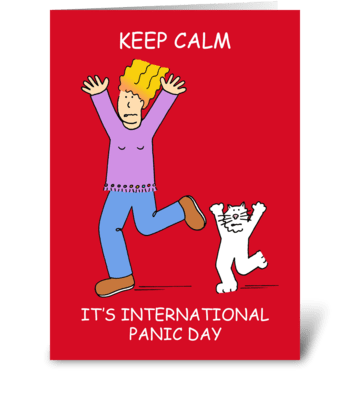 International Panic Day, June 18th greeting card