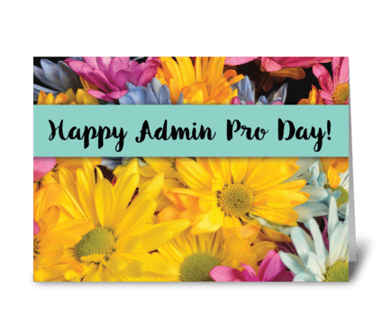 Admin Pro Day Thanks Gerbera Daisies greeting card