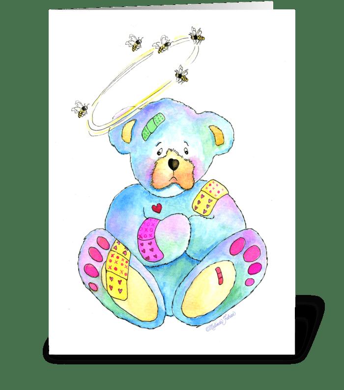 Get Well Teddy Bear greeting card