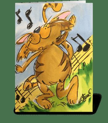 Tabby Tango greeting card