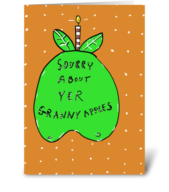 Granny Apples greeting card