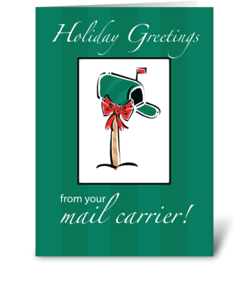 Mail Carrier Holiday Greetings greeting card