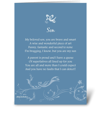 Poetry Son greeting card