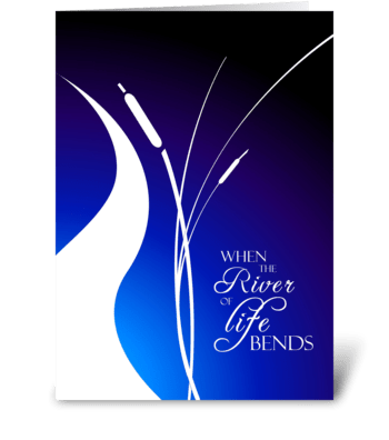 Life Bends - Thank You greeting card