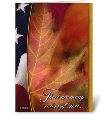 Patriotic Thanksgiving Card greeting card
