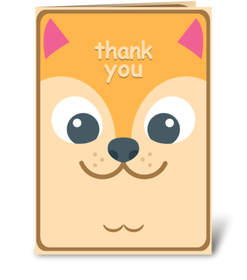 Thank You - Puppy greeting card