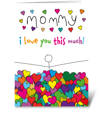 104 Mommy I Love You greeting card