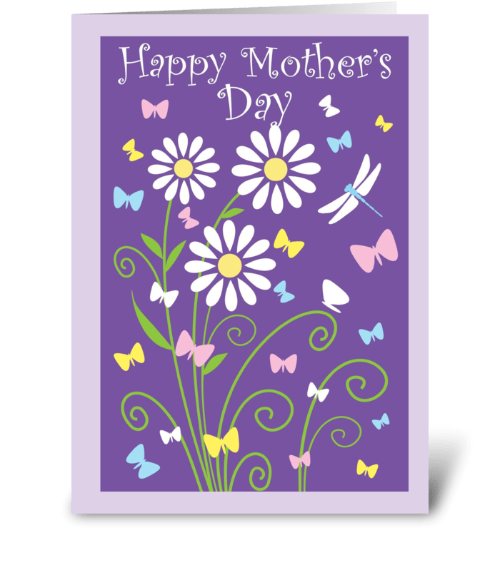 Simply, Happy Mother's Day greeting card